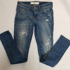 abercrombie & fitch skinny distressed jeans 2